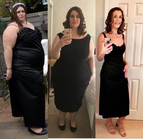 """O tânără a slăbit atât de mult încât mama ei n-a mai recunoscut-o. Cum arată femeia după ce a topit 95 de kilograme: """"Mi-a schimbat viața complet!"""""""