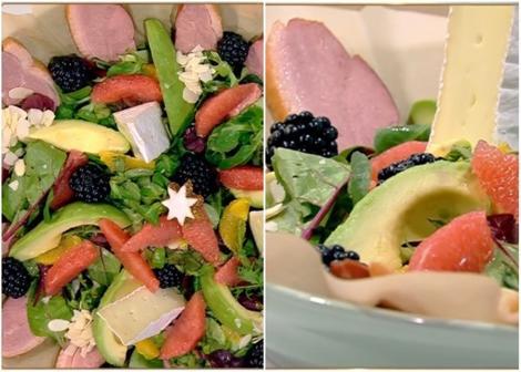 Rețetă de Salată fructată cu piept de rață afumat