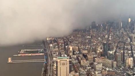 Fenomen meteorologic extrem în New York! S-a întâmplat brusc! Oamenii au fost uluiți! VIDEO