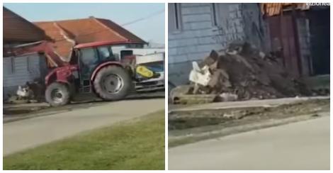 """Momentul în care un primar i-a înapoiat unui localnic molozul aruncat în câmp: """"Ne dorim o comună curată!"""""""