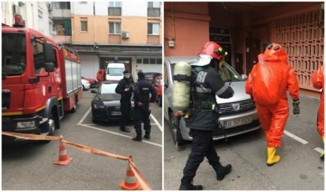 Alarmă chimică în Ploiești! Pompierii au evacuat un bloc întreg. Oamenii au ieșit în stradă, speriați de mirosul din imobil
