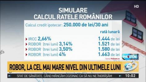 ROBOR, la cel mai mare nivel din ultimele luni! Lovitură cruntă de Crăciun pentru banii românilor