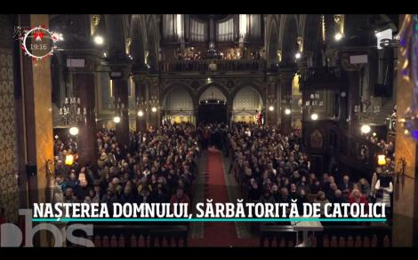 Crăciunul catolic a adus oamenii împreună la Catedrala Sfântul Iosif