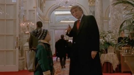 """Canada - Secvenţa din """"Home Alone 2"""" în care apare Donald Trump, tăiată din motive de timp"""