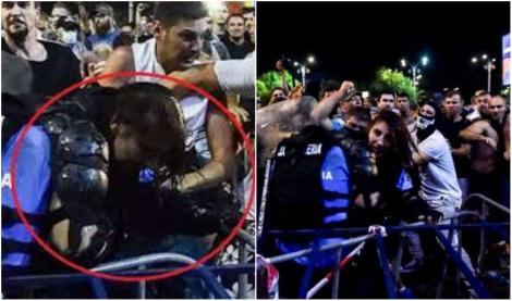 Ce pedepse au primit bărbații care au bătut-o pe femeia jandarm la protestul din 10 august