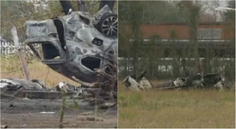 Video  Avion prăbușit peste o mașină! Aeronava a căzut la scurt timp după decolare. Autoritățile au anunțat primul bilanț al fatalităților
