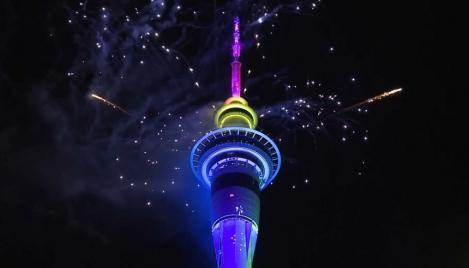 Noua Zeelandă a intrat în anul 2020 şi a marcat evenimentul printr-un spectaculos foc de artificii