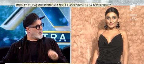 """Bianca Rus, criticată dur de Adrian Oianu la Xtra Night Show: """"Domnișoară, nu te mai îmbrăca așa! Se numește gușă de vacă ce vedeți în față!"""""""