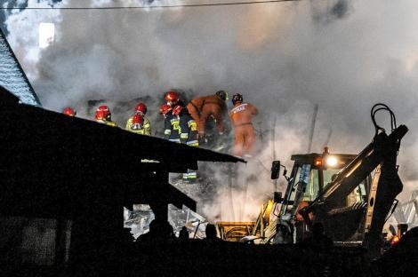 Explozie puternică în Polonia. Patru persoane au murit și patru sunt dispărute