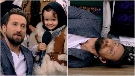"""O fetiță de """"trei anișori"""" l-a făcut pe Dani Oțil să leșine de drag, la propriu, în direct! Cum l-a cucerit. """"Gabriela, fă camera aia, o luăm acasă!"""" – Video"""