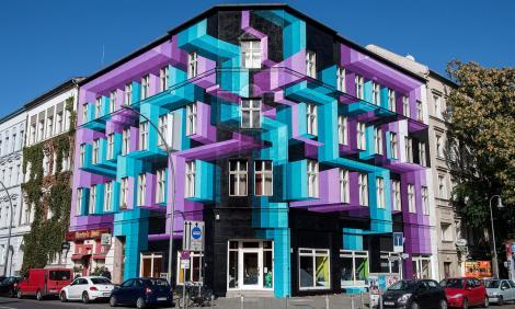Un artist olandez dă o nouă față clădirilor vechi. Rezultatul e captivant!