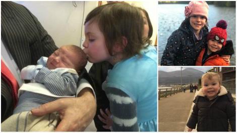 """""""L-am salvat cu pupicul meu!"""" O boală transmisă printr-un sărut de la surioara lui i-a salvat viața acestui bebeluș!"""