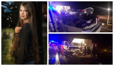 Tot oraşul o plânge pe Larisa. A murit la 18 ani, împreună cu tatăl ei, în accidentul din Sibiu. Mama și sora ei sunt în stare gravă