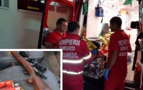 O angajată a primăriei din Olt a fost împușcată accidental de soț! Femeia se află în stare gravă și riscă să își piardă brațul drept