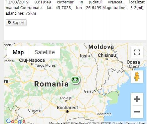 Cutremur în România, azi, 13 martie! Magnitudine 3.2 pe scara Richter