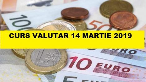 BNR Curs valutar 14 martie 2019. Euro și Lira ating noi recorduri azi!