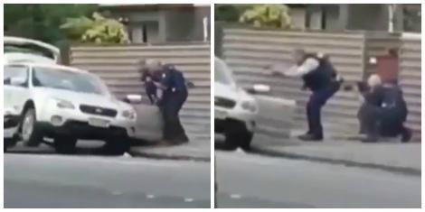 Momentul în care autorul atacului sângeros din Noua Zeelandă este prins de polițiști! Sunt 49 de morți, darnumărul victimelor ar putea crește vertiginos