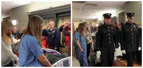 Momentul sfâșietor în care un pompier de 31 de ani este condus în sala de operații pentru a-i fi prelevate organele! Fusese diagnosticat cu o tumoare pe creier