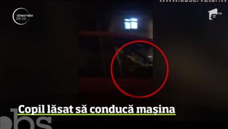 Revoltător! Un băiețel de 7 ani din Brașov a fost surprins la volanul unei mașini în mers! Momentul halucinant a fost filmat de un martor îngrozit