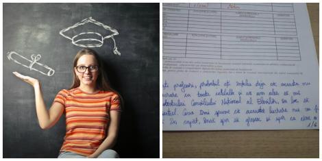 O elevă care a susținut simularea la Bacalaureat a primit nota 1!  Ce a scris în foaia de e examen a devenit viral