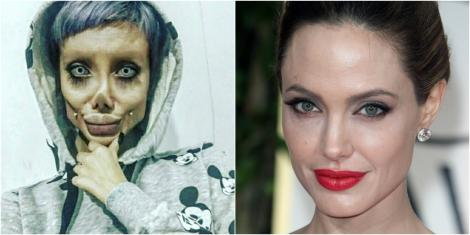 """Înainte și după. Cum arată, de fapt, sosia horror a Angelinei Jolie: """"Nu văd nimic rău în a-ți face operații estetice"""" - Galerie foto"""