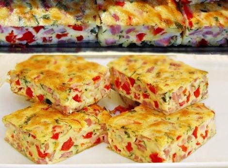 Rețete de aperitive pentru mesele festive: Budincă aperitiv cu șuncă presată și legume