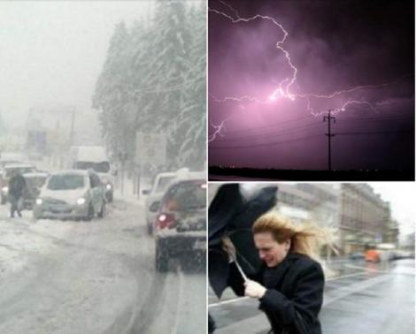 Cod portocaliu de vreme rea în România! Vântul atinge rafale de 90-100 km/h
