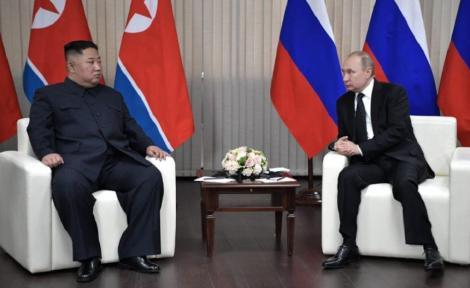 """Americanii au fost de """"rea-credinţă"""" la Hanoi, i-a spus Kim lui Putin, pe care l-a invitat în vizită în Coreea de Nord"""