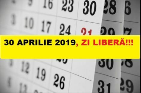 Minivacantă de șase zile, de Paște și 1 Mai. Când recuperează angajații ziua de 30 aprilie, declarată liberă