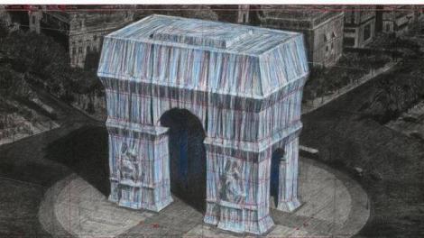 """Arcul de Triumf, unul dintre monumentele emblematice ale Parisului, va fi în întregime """"împachetat"""", în 2020, de artistul Christo"""