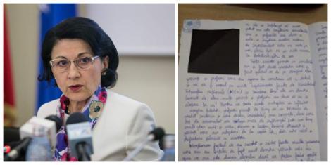 """""""Școala nu este o corvoadă"""". Reacția Ecaterinei Andronescu, după ce o elevă a scris la simulare ce nemulțumiri are legate de învățământul românesc"""