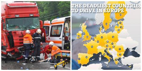"""România, pe primul loc în Europa la drumuri """"mortale""""! Două mii de persoane și-au pierdut viețile pe șoselele noastre, în 2018!"""