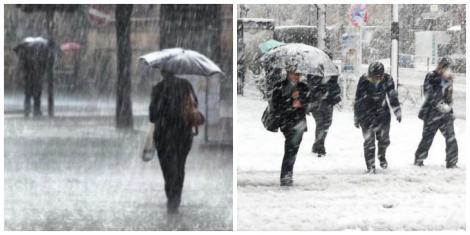Nu renunțați la umbrele! Urmează un nou val de ploi torențiale, vânt puternic și ninsori! Prognoza meteo pentru săptămâna viitoare