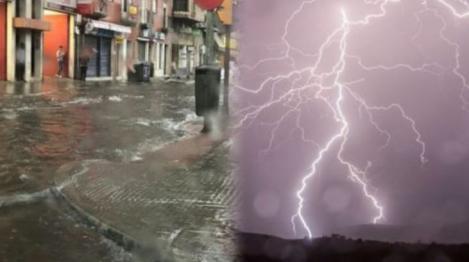 Vremea rea face ravagii în toată țara! Alertă ANM: codul galben de ploi și vijelii în mai multe județe ale țării a fost activat!