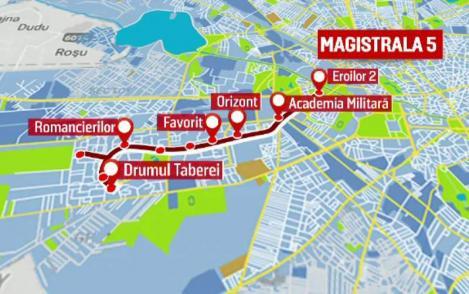 Magistrala 5 de metrou Eroilor-Drumul Taberei va fi finalizata în luna decembrie a acestui an, a declarat  ministrul Transporturilor, Razvan Cuc.