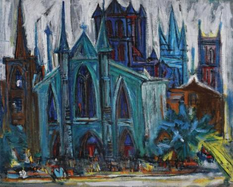 """Lucrarea """"Cathédrale"""", de Marcel Iancu, a fost adjudecată contra sumei de 80.000 de euro. Un tuş pe hârtie de Brâncuşi, vândut pentru 47.500 de euro"""