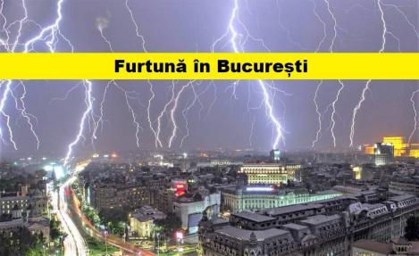 Vremea în București se stică. ANM anunță ploi torențiale și descărcări electrice