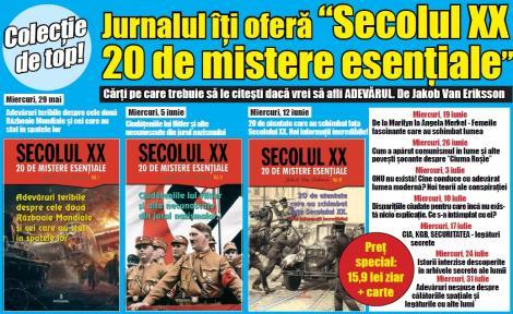 Jurnalul lansează miercuri colecția Secolul XX - 20 de mistere esențiale