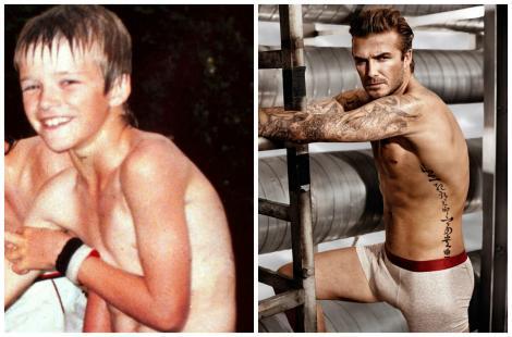 David Beckham a împlinit 44 de ani! Cum arăta fotbalistul pe când era doar un puști, fără tatuaje și fără mușchi