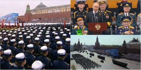 Rușii celebrează 74 de ani de la înfrângerea Germaniei lui Hitler. 13.000 de soldați și zeci de sisteme de armament, scoase la paradă în Piața Roșie- Video