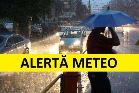 Update: ANM, alertă meteo! Vremea: cod galben și portocaliu ploi torențiale și grindină
