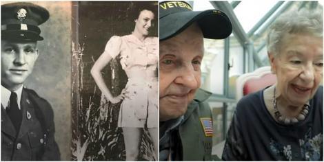 """""""Mereu te-am iubit"""". Un veteran s-a întâlnit cu femeia de care s-a îndrăgostit în cel de-Al Doilea Război Mondial, după 75 de ani – Foto"""