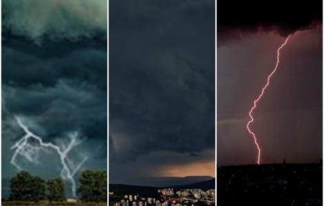 ANM a actualizat prognoza. Aproape toată țara, sub avertizare de vreme rea. Cod roșu de furtuni