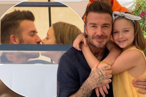 """David Beckham a scandalizat o lume întreagă! Cum a apărut într-o poză, alături de fiica lui de șapte ani! """"Ciudat, ciudat, ciudat! Nu se face așa ceva"""" - Foto"""
