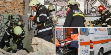 Adolescent de 16 ani, în stare gravă, după ce peretele unui bloc din Dorohoi s-a prăbușit peste el. Copilul încerca să câștige un ban în plus