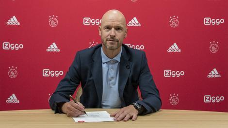 Antrenorul lui Ajax Amsterdam, Erik ten Hag, şi-a prelungit contractul până în iunie 2022