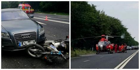 Un motociclist, rănit grav, în urma unui accident, în județul Constanța! Un elicopter SMURD  a intervenit de urgență