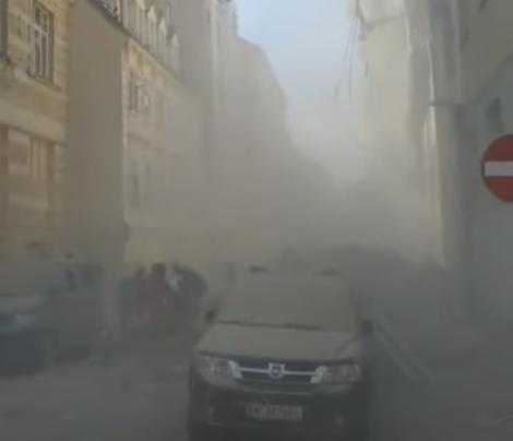 """Explozie puternică la Viena! Imagini tulburătoare! """"Este ca şi cum o bombă a zburat înăuntru şi a provocat o gaură uriaşă în faţadă"""" - Video"""
