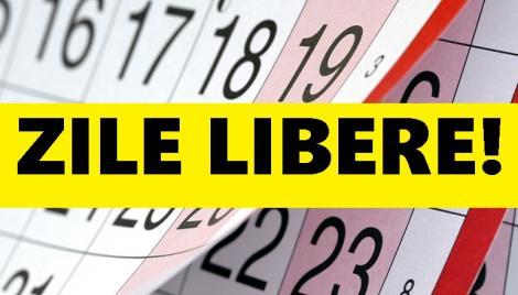 Calendar zile libere legale 2019. Când este programată următoarea minivacanță pentru români