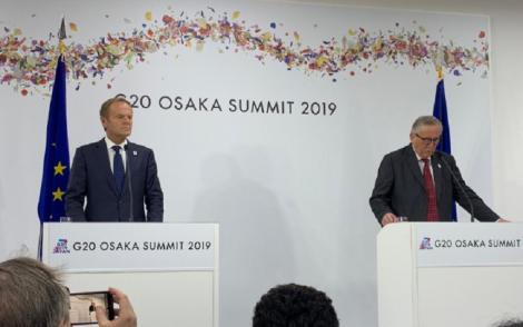 Donald Tusk anunţă la Osaka progrese în privinţa principalelor posturi în Uniunea Europeană